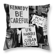Peace Protest, 1962 Throw Pillow