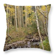 Peaceful Aspens Throw Pillow