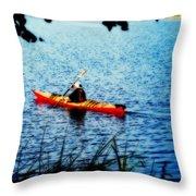 Peaceful Canoe Ride Ll Throw Pillow
