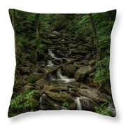Peaceful Cascade Throw Pillow