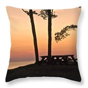 Peaceful Evening Picnic 7109 Throw Pillow