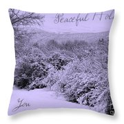 Peaceful Holidays To You Throw Pillow
