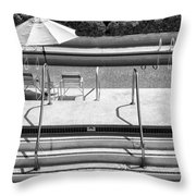 Peaceful Oasis Bw Palm Springs Throw Pillow