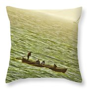 Peaceful Rolling Throw Pillow