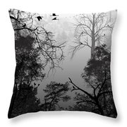 Peaceful Shades Of Gray Throw Pillow