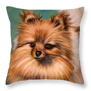 Peaches And Cream Throw Pillow by Michelle Wrighton