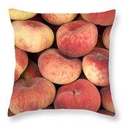 Peaches Throw Pillow by Jane Rix