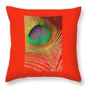 Peacock Feather 2 Throw Pillow