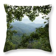 Peak At The Mountains Throw Pillow