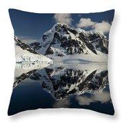 Peaks Along  Neumayer Channel Throw Pillow