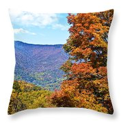 Peaks And Colors Throw Pillow