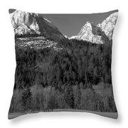 Peaks Near Schwangau In The Bavarian Alps Throw Pillow