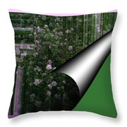 Pealing Wallpaper Throw Pillow