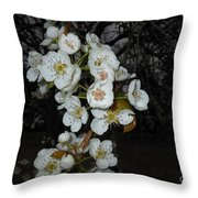 Pear Blooms And Tree Throw Pillow