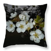 Pear Blooms Throw Pillow