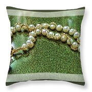 Pearl Bracelet Throw Pillow