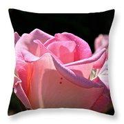 Pearl Pink Petals Throw Pillow