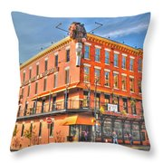 Pearl St Brewery Throw Pillow