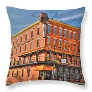 Pearl Street Brewery Throw Pillow