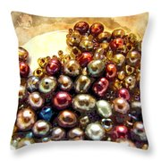 Pearls In A Pile  Art Throw Pillow