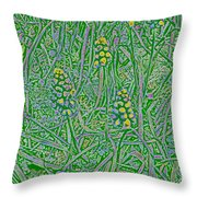 Pearls In The Grass 1 Throw Pillow