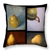 Pears The Series Throw Pillow