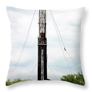 Pearsall Drilling Rig Throw Pillow