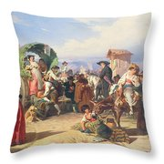 Peasants Of The Campagna Throw Pillow