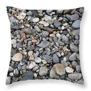Pebble Beach Rocks, Maine Throw Pillow