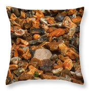 Pebbles And Stones On The Beach Throw Pillow
