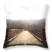 Pedestrian Bridge At Martinez Regional Shoreline Park In Martinez California . 7d10534 Throw Pillow