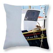 Peek-a-boat Throw Pillow