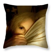 Peekaboo By Candlelight Throw Pillow