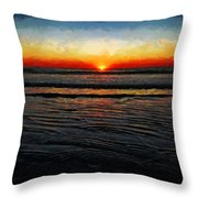 Peeking Over The Horizon Throw Pillow