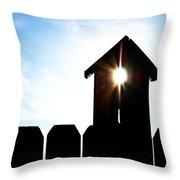 Peeking Sunlight Through A Birdhouse Throw Pillow
