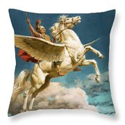 Pegasus The Winged Horse Throw Pillow