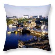 Peggys Cove, Nova Scotia Throw Pillow