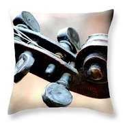 Pegs And Scroll Throw Pillow