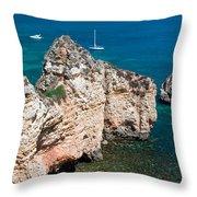 Peidades Coast Portugal Throw Pillow