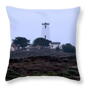 Peidras Blancas Lighthouse Throw Pillow