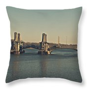 Pelham Bridge - Fade Throw Pillow