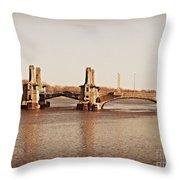 Pelham Bridge In Sepia Throw Pillow