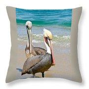 Pelican Pair Throw Pillow