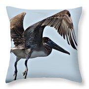 Pelican V Throw Pillow