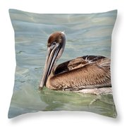 Pelican Waiting For A Catch Throw Pillow