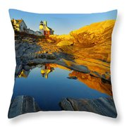 Pemaquid Point Reflection 2 Throw Pillow