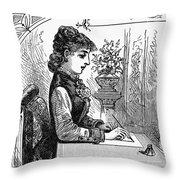 Penmanship Manual, C1880 Throw Pillow