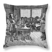 Penn And Colonists, 1682 Throw Pillow