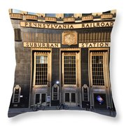 Pennsylvania Railroad Suburban Station Throw Pillow