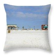 Pensacola Beach Throw Pillow